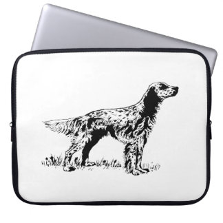 english setter laptop sleeve