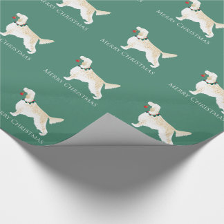 English Setter Merry Christmas Design Wrapping Paper