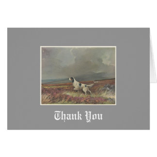 English Setter On Moorland Thank You Note Card