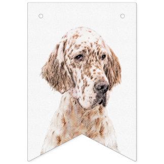 English Setter (Orange Belton) Bunting