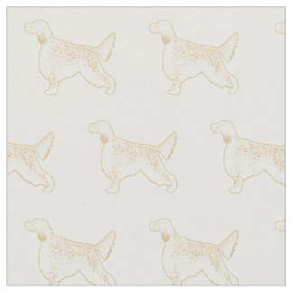 English Setter Silhouette Tiled Fabric - Basic