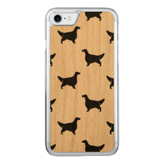 English Setter Silhouettes Pattern Carved iPhone 7 Case