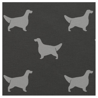English Setter Silhouettes Pattern Fabric