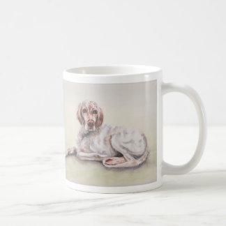 English Setter with breed information text Coffee Mug