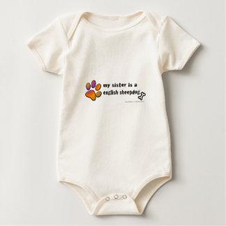 english sheepdog baby bodysuit