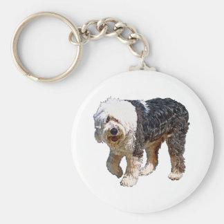 English Sheepdog Key Ring