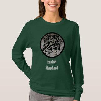 English Shepherd Puppy Stencil T-Shirt