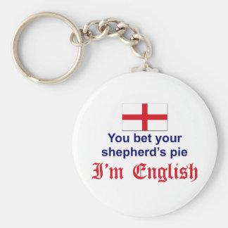 English Shepherd's Pie 2 Basic Round Button Key Ring