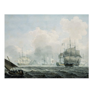 English Ships of War Postcard