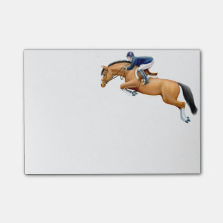 English Show Jumper Horse Post It Notes