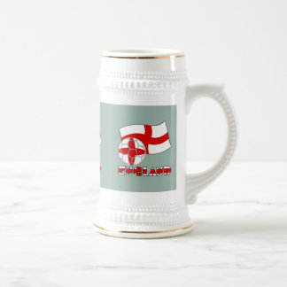 English Soccer Ball and Flag Beer Stein