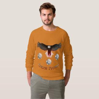 English Soccer Eagle Men's Raglan Sweatshirt