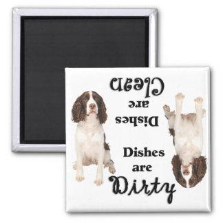 English Springer Lovers Dishwasher Magnet
