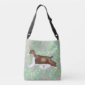 English Springer Spaniel Bag/Tote Aqua Crossbody Bag