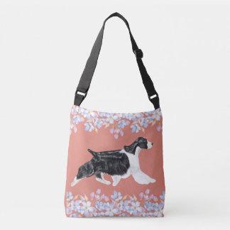 English Springer Spaniel Bag/Tote - Dark Peach Crossbody Bag