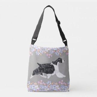 English Springer Spaniel Bag/Tote - Grey Crossbody Bag