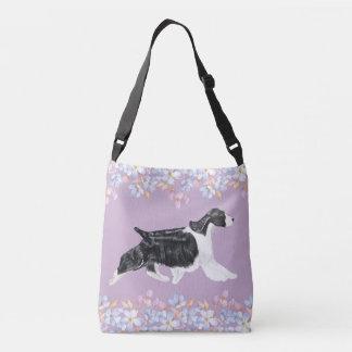 English Springer Spaniel Bag/Tote - Lilac Crossbody Bag