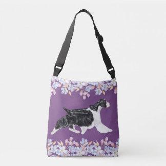 English Springer Spaniel Bag/Tote - Purple Crossbody Bag