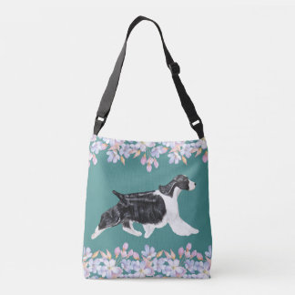 English Springer Spaniel Bag/Tote - Teal Crossbody Bag