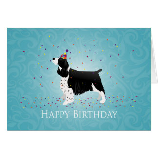 English Springer Spaniel Birthday Design. Card