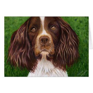 English Springer Spaniel Dog Art - Major Greeting Card