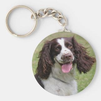 English Springer Spaniel dog beautiful photo, gift Key Ring