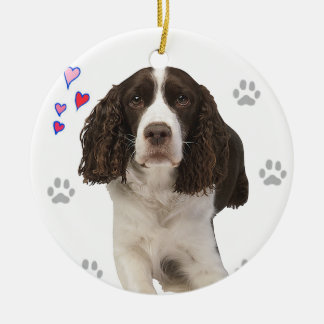 English Springer Spaniel Dog Ceramic Ornament
