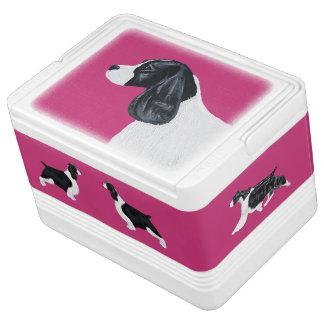 English Springer Spaniel Igloo Cooler - Dark Pink
