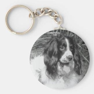 English Springer Spaniel Key Ring Basic Round Button Key Ring