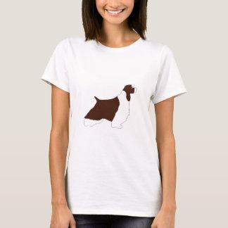 English Springer Spaniel l.iver white tan silo T-Shirt
