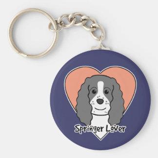 English Springer Spaniel Lover Basic Round Button Key Ring