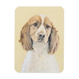 English Springer Spaniel Painting Original Dog Art Magnet