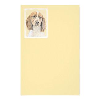 English Springer Spaniel Painting Original Dog Art Stationery