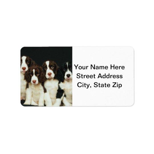 English Springer Spaniel Puppies (2) Address Label