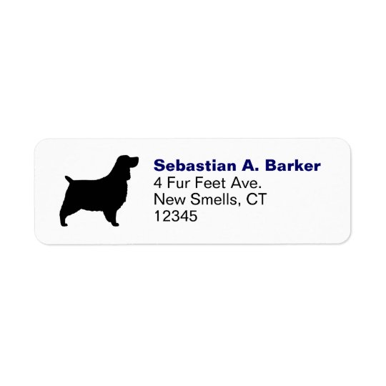 English Springer Spaniel Silhouette Return Address Label
