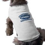 English Springer Spaniel University Sleeveless Dog Shirt