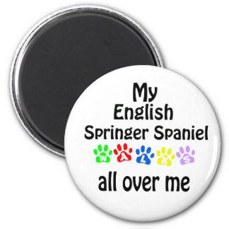 English Springer Spaniel Walks Design Magnet