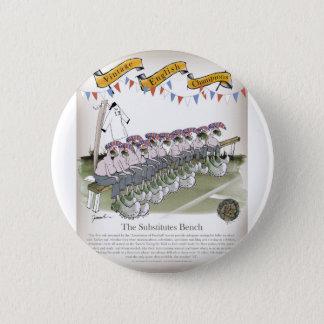 english substitutes 6 cm round badge