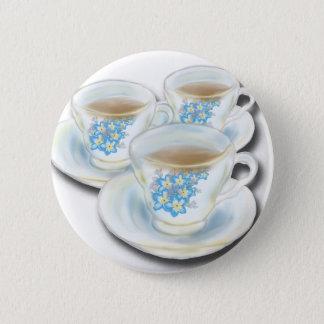English Tea Set - China with forgetmenot flowers 6 Cm Round Badge
