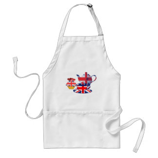English Tea-time, Union Jack Art Gifts Standard Apron