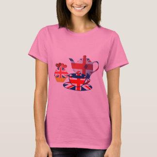 English Tea-time, Union Jack Art Gifts T-Shirt