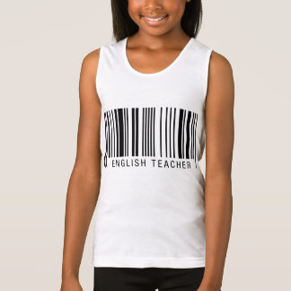 English Teacher Barcode Singlet