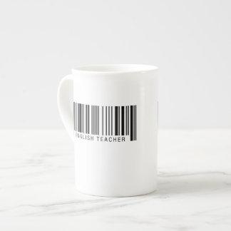English Teacher Barcode Tea Cup