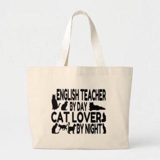 English Teacher Cat Lover Jumbo Tote Bag