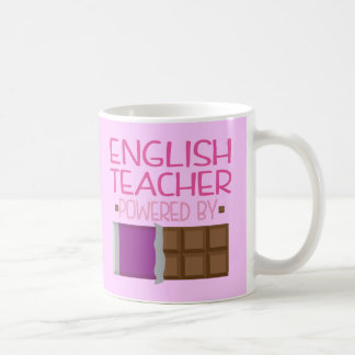 English Teacher chocolate Gift for Her Basic White Mug