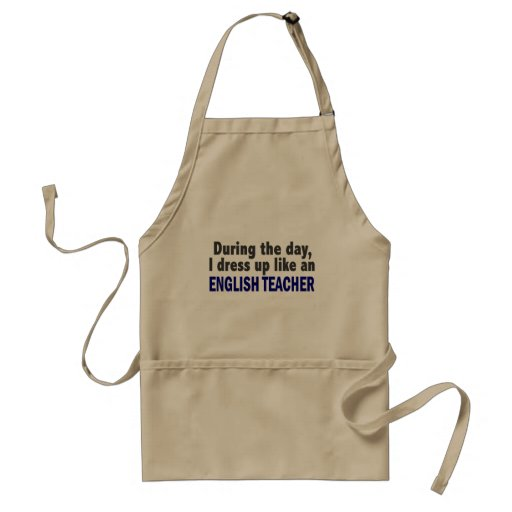 English Teacher During The Day Aprons