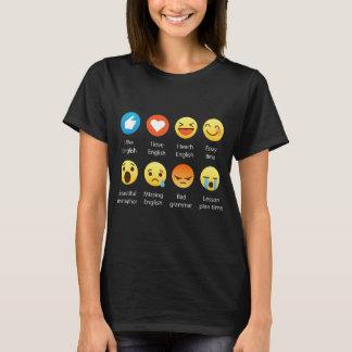 English Teacher Emojis Emoticons Funny Graphic Tee