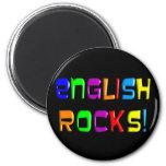 "English Teacher Gifts ""English Rocks!"" Refrigerator Magnets"