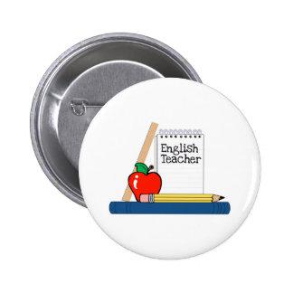 English Teacher Notebook Pinback Buttons
