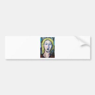 English Teacher (portrait expressionism) Bumper Sticker